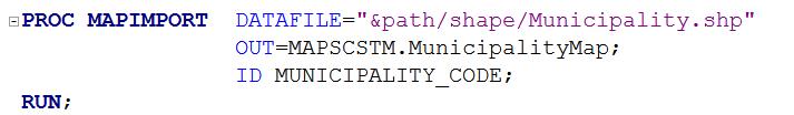 PROC MAPIMPORT procedure in SAS Visual Analytics