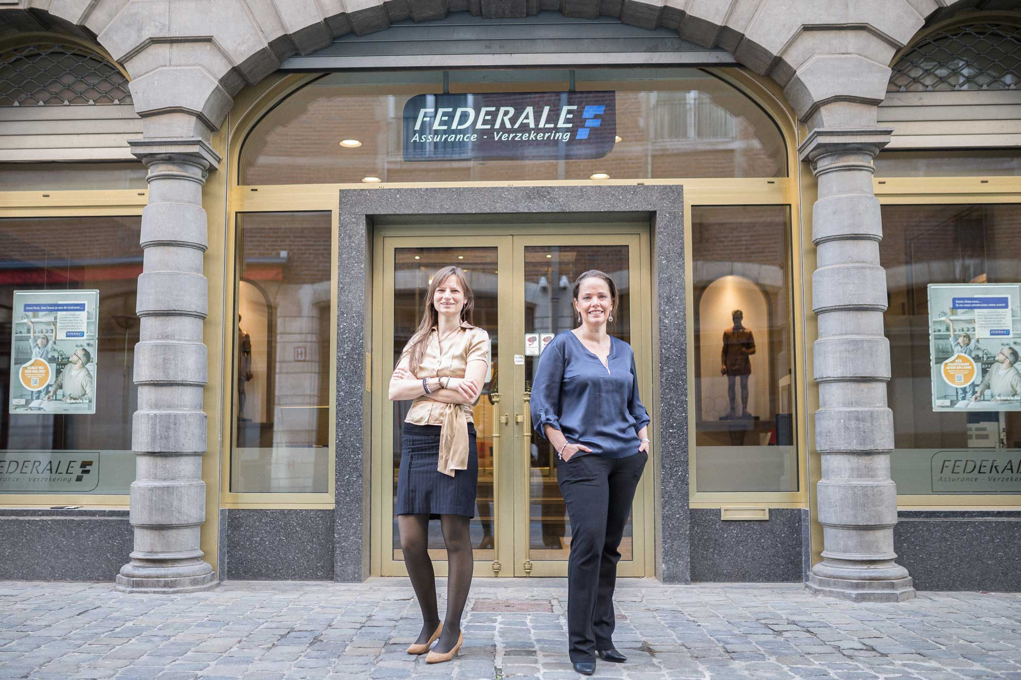 Amandine Rouvroy, Head of Business Intelligence Competence Center at Federale Verzekering-Assurance and Ariane Berckmoes, Chief Technology Officer at Federale Verzekering-Assurance