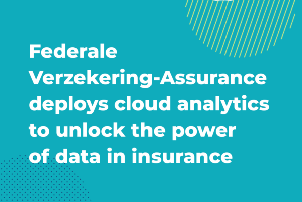 press release: Federale Verzekering-Assurance deploys cloud analytics to unlock the power of data in insurance